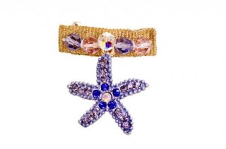 DREAM SEA STAR HAIR CLIP BLUE SWAROVSKI【for pets only】