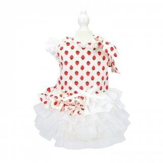 French doll ワンピース strawberry white【aletta angelique】