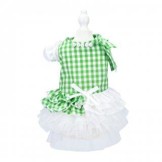 French doll ワンピース Gingham Green【aletta angelique】