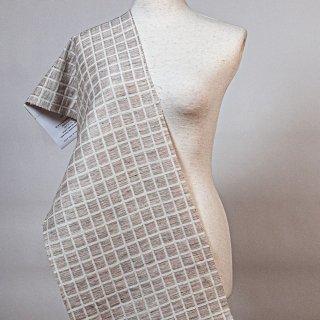 【1m以上 50cm単位販売】綿リネンブロックジャカード 155cm幅