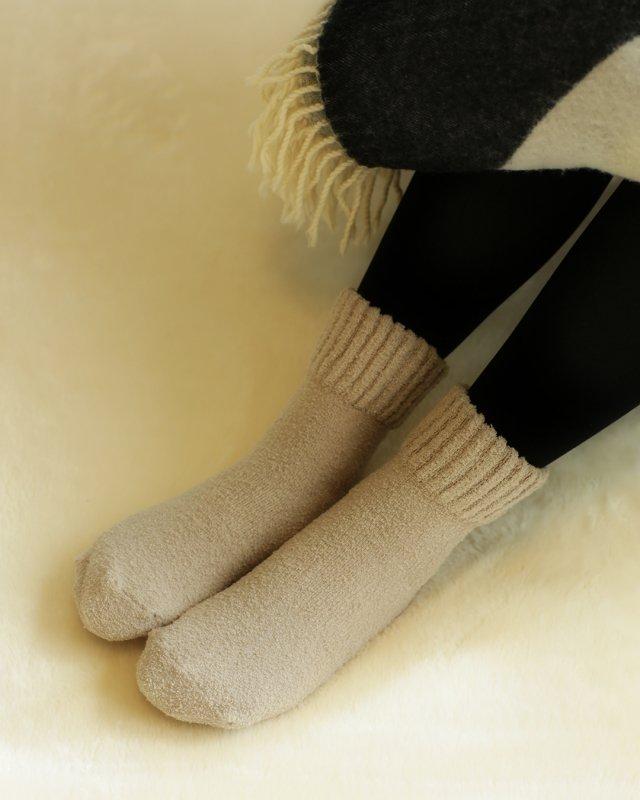 履き口のゴムがゆったり米ぬかモコモコソックス SU7260
