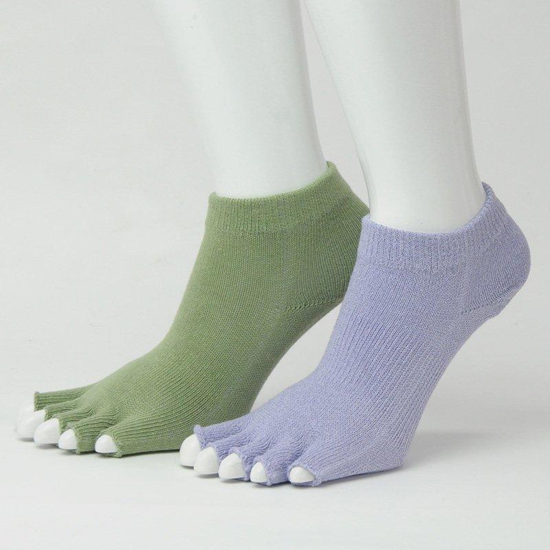 優れた吸汗で足指間のムレ解消 吉野葛和紙で作った5本指形状ソックス KT8271