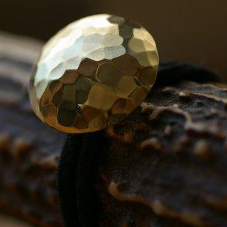 槌目の真鍮コンチョ(ヘアゴム)