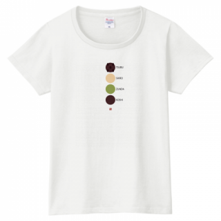 あんこTシャツ(4types anko)レディス
