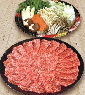 A5最高級黒毛和牛(メス牛)モモすき焼きセット3〜4人前
