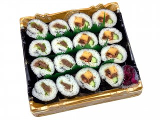 A5黒毛和牛肉巻き寿司と太巻き盛り
