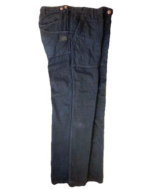 Indigo Mud Dyed Fatigue Pants