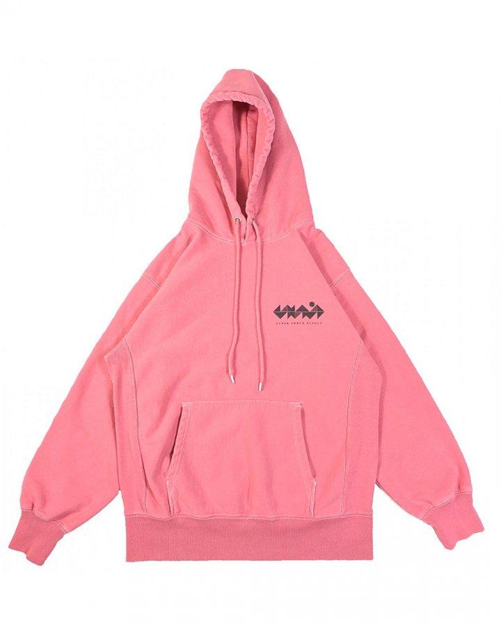 Hokuto Graph Hoodie Faded Pink