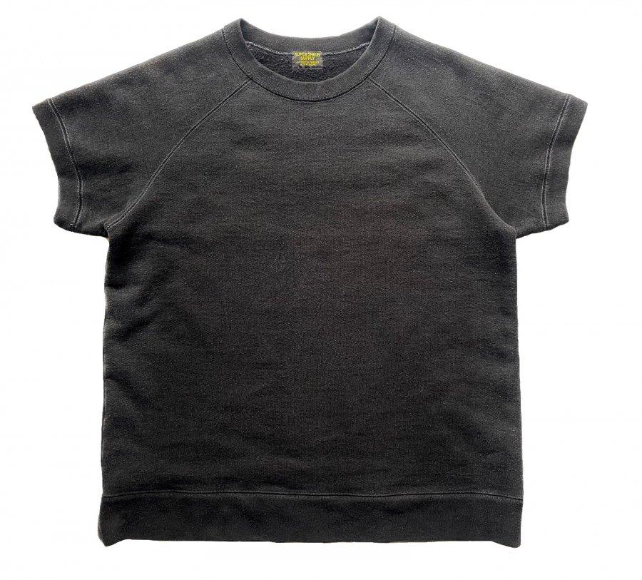 Short Sleeve Crew Neck Garment Dyed Black