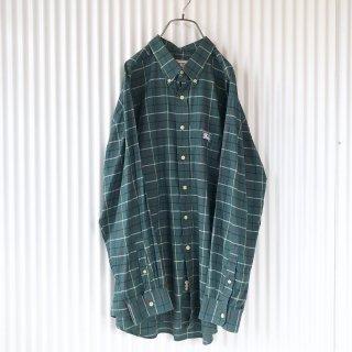 Burberrys ホース刺繍チェックシャツ/XL
