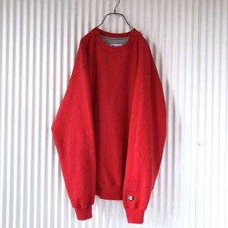 Champion 袖ロゴゆるスウェット/Red