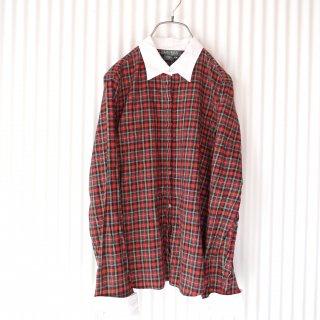 RALPH LAUREN petite タータンチェックカフスシャツ