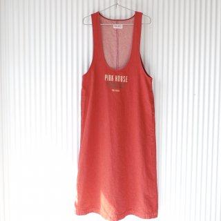 PINK HOUSE シンプルロゴジャンパースカート/あか