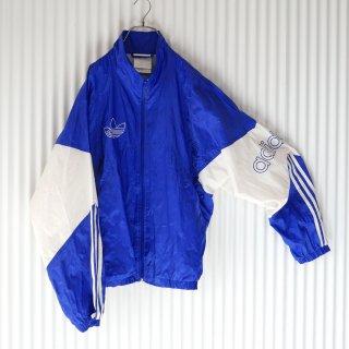 adidas トレフォイル刺繍×袖ロゴ 切り替えナイロンジャケット