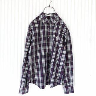 Burberrys ホース刺繍チェックシャツ