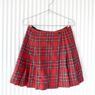タータンチェックWOOLラップスカート