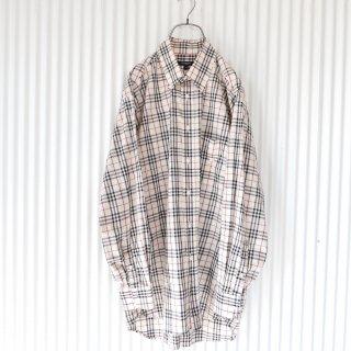 BURBERRYS ホース刺繍チェックB.Dシャツ/men's
