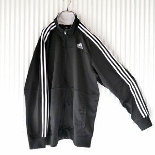 adidas 3ライントラックジャケット/黒×白/XL