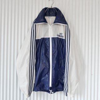 adidas トレフォイル刺繍×3ライン ナイロンジャケット