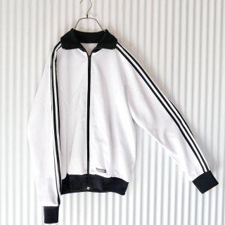adidas 3ライン×ロゴトラックジャケット/白黒