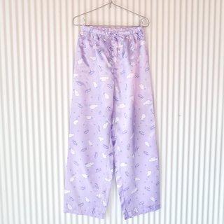 ほしぞらのサテンパジャマパンツ/Pastel purple