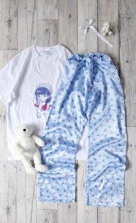 SNOOPY みずいろサテンパジャマパンツ