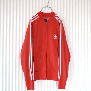 adidas ノーカラー3ライントラックジャケット/red