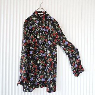 VIVA YOU とんがり襟 ローズシアーシャツ