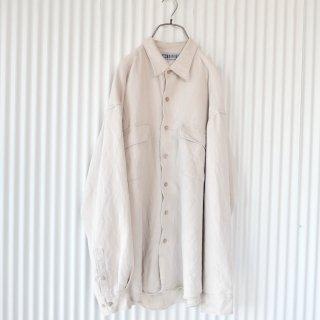 極細コーデュロイ ポケットシャツ/greige