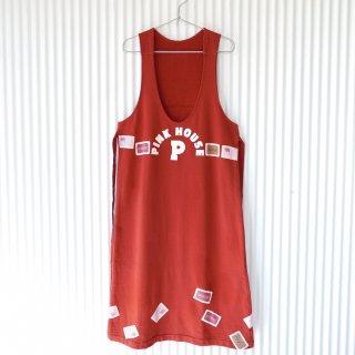 PINK HOUSE フラッグワッペン スウェットジャンパースカート