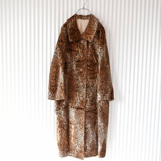 Leopard antique fake fur coat