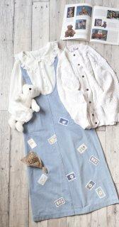 PINK HOUSE キューピー&マーガレットワッペン ジャンパースカート