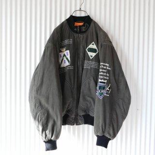 90's刺繍MA-1タイプブルゾン