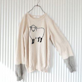I AM I 羊さんラグランニット
