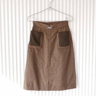 Evan-Picone ニットポケット アンティークWOOLスカート