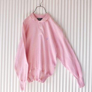 Polo Ralph Lauren 襟付きコットンニット/ピンク×水色