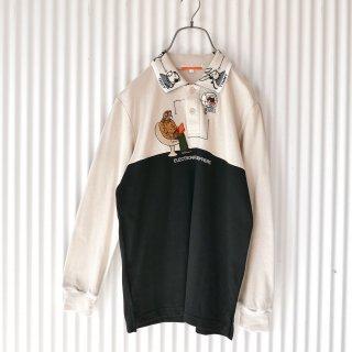 CASTEL BAJAC アニマル襟とくまちゃん刺繍ポロ
