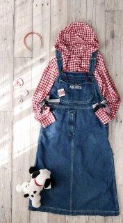 PINK HOUSE ロゴポケット デニムジャンパースカート