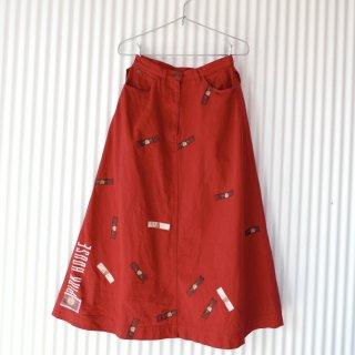 PINK HOUSE 顔くまちゃんレトロワッペンAラインスカート