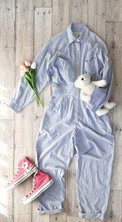 ダンガリーシャツジャンプスーツ
