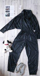 EURO モードパターンジャンプスーツ/Lady Black