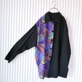 art水彩パターンVISCOSEシャツ