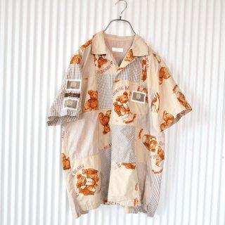 PINK HOUSE テディベア×くまちゃんワッペン レースシャツ