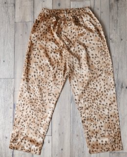 Leopard サテンパンツ