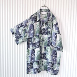 GIOGIO ARMAN アートパターンSILKシャツ