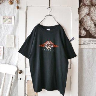 鷲とバイク刺繍/Arizona Tee