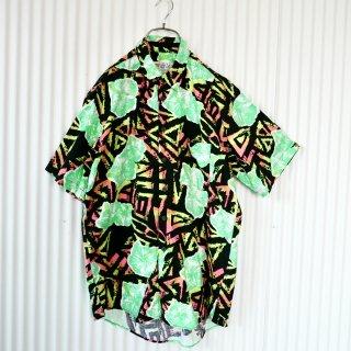 UME COLLECTION サイケネオンパターンシャツ