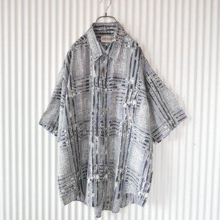 PAO CLUB 擦れチェックBIGシャツ