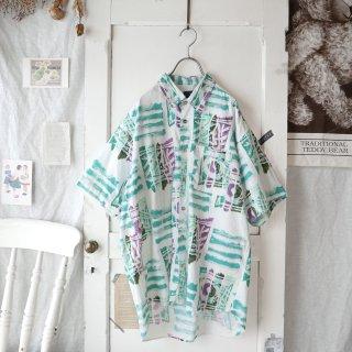 Pin-up 90'sポップパターンシャツ