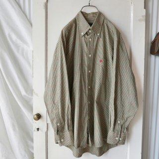POLO ポロ刺繍B.Dチェックシャツ